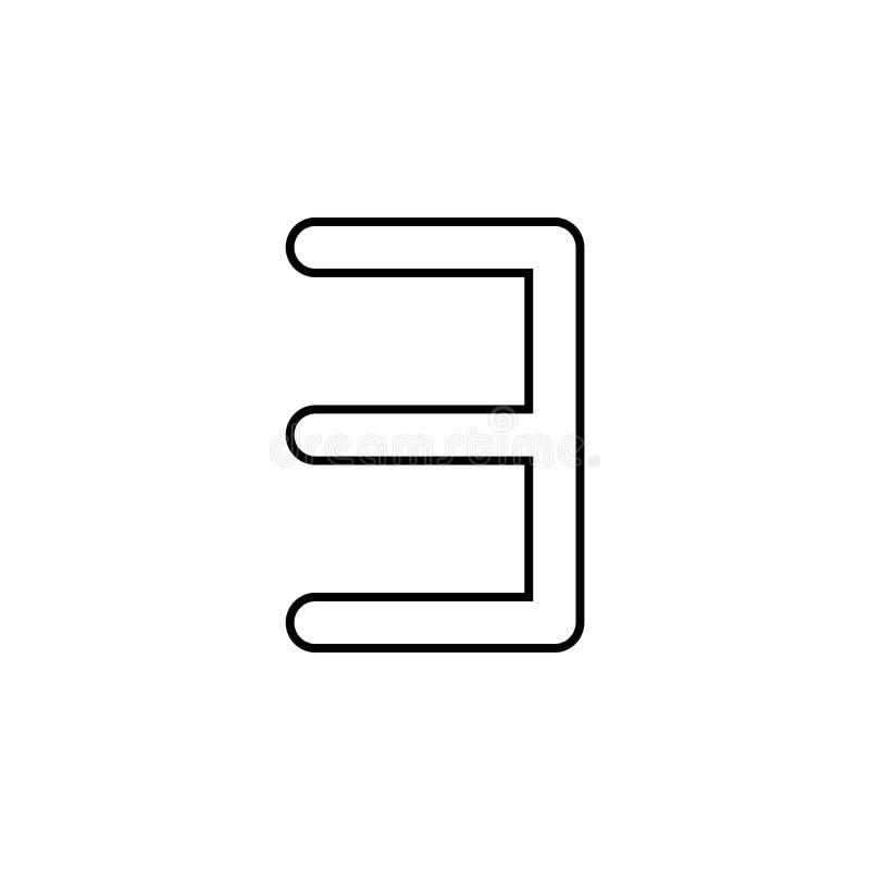 icono del revés de e Línea fina icono para el diseño y el desarrollo, desarrollo del sitio web del app Icono superior stock de ilustración