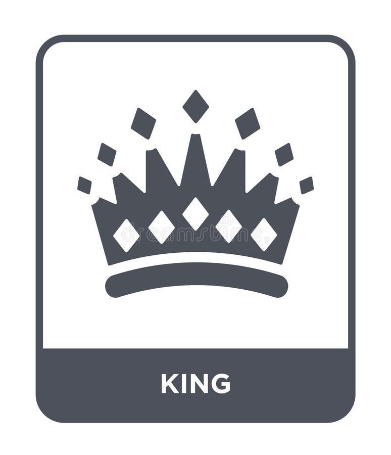 icono del rey en estilo de moda del diseño Icono del rey aislado en el fondo blanco símbolo plano simple y moderno del icono del  libre illustration