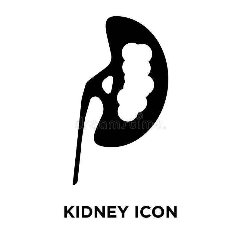 Icono del riñón aislado en el fondo blanco, concepto del logotipo de libre illustration