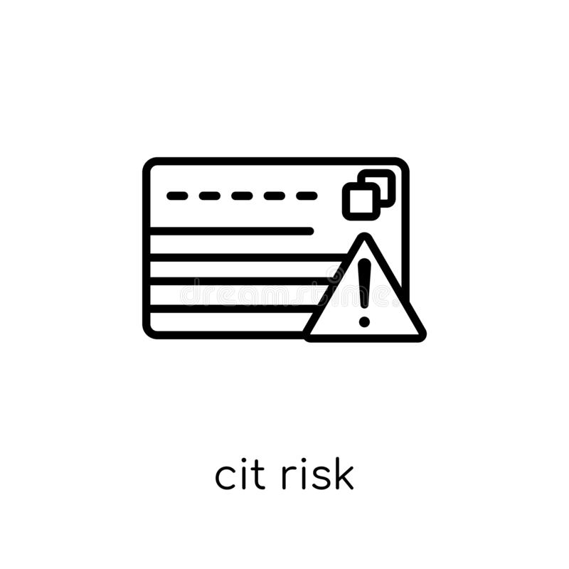 icono del riesgo de crédito Riesgo de crédito linear plano moderno de moda del vector i libre illustration