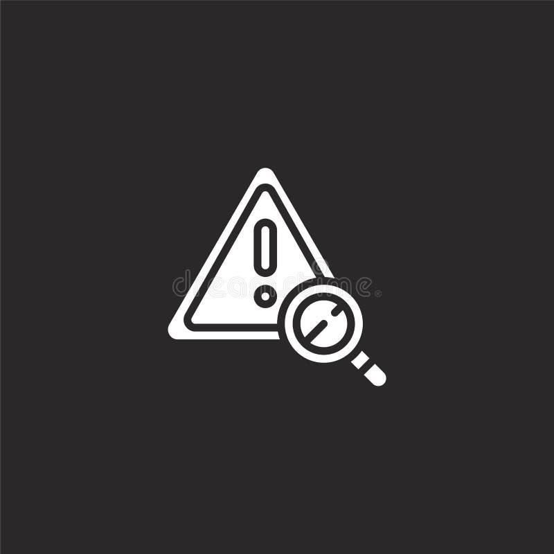 icono del riesgo Icono llenado del riesgo para el diseño y el móvil, desarrollo de la página web del app icono del riesgo de la c libre illustration
