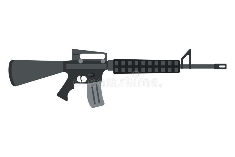 Icono del rifle de asalto del vector stock de ilustración