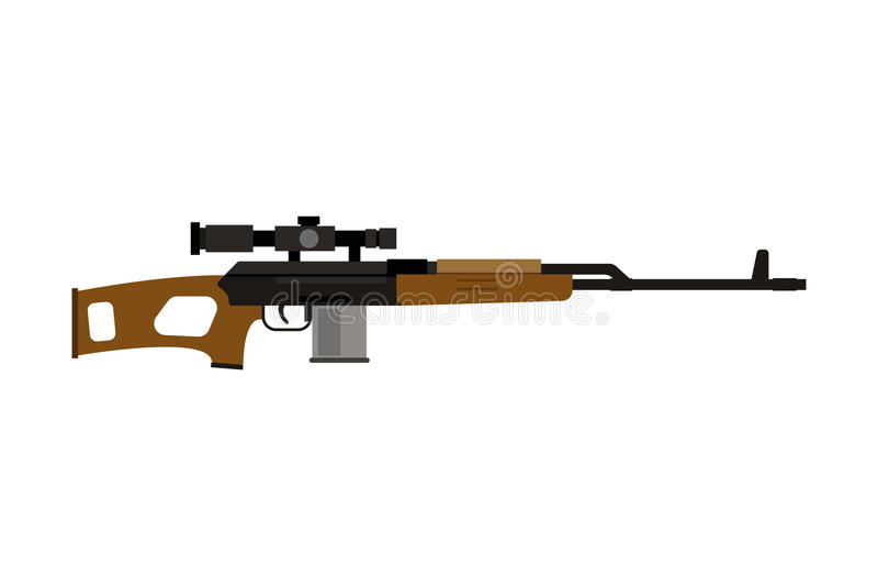 Icono del rifle de asalto del vector ilustración del vector