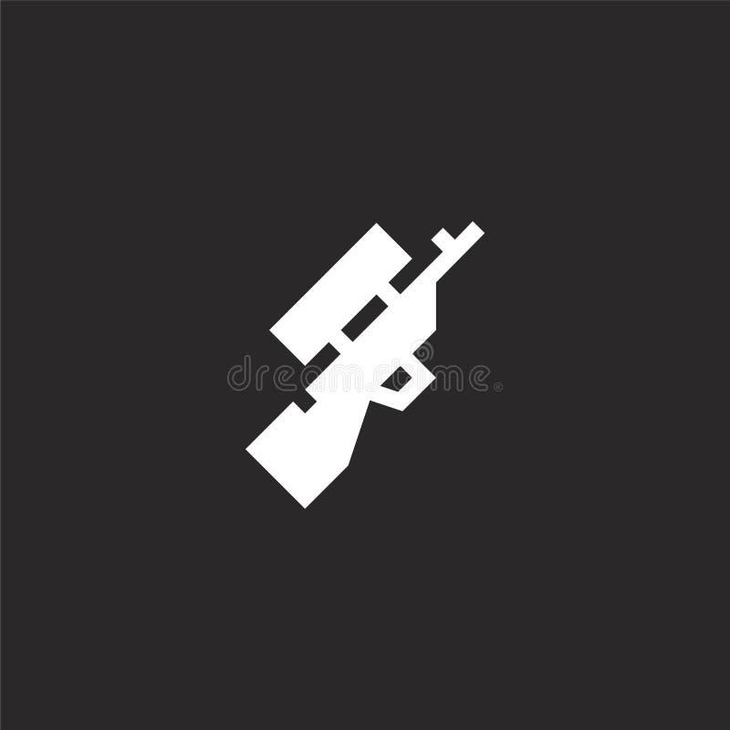 Icono del rifle Icono llenado del rifle para el diseño y el móvil, desarrollo de la página web del app icono del rifle de aficion libre illustration