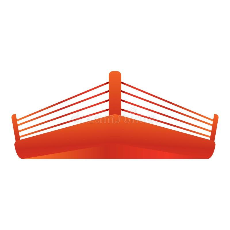 Icono del ring de boxeo, estilo de la historieta stock de ilustración