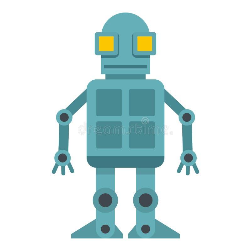 Icono del robot de Android aislado stock de ilustración
