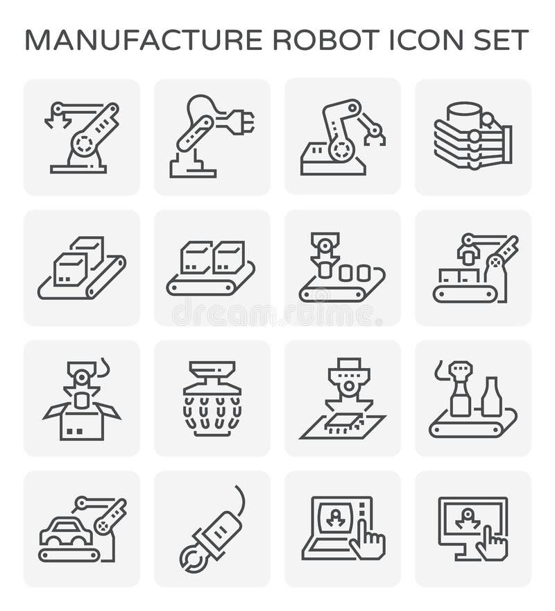 Icono del robot de la fabricación ilustración del vector