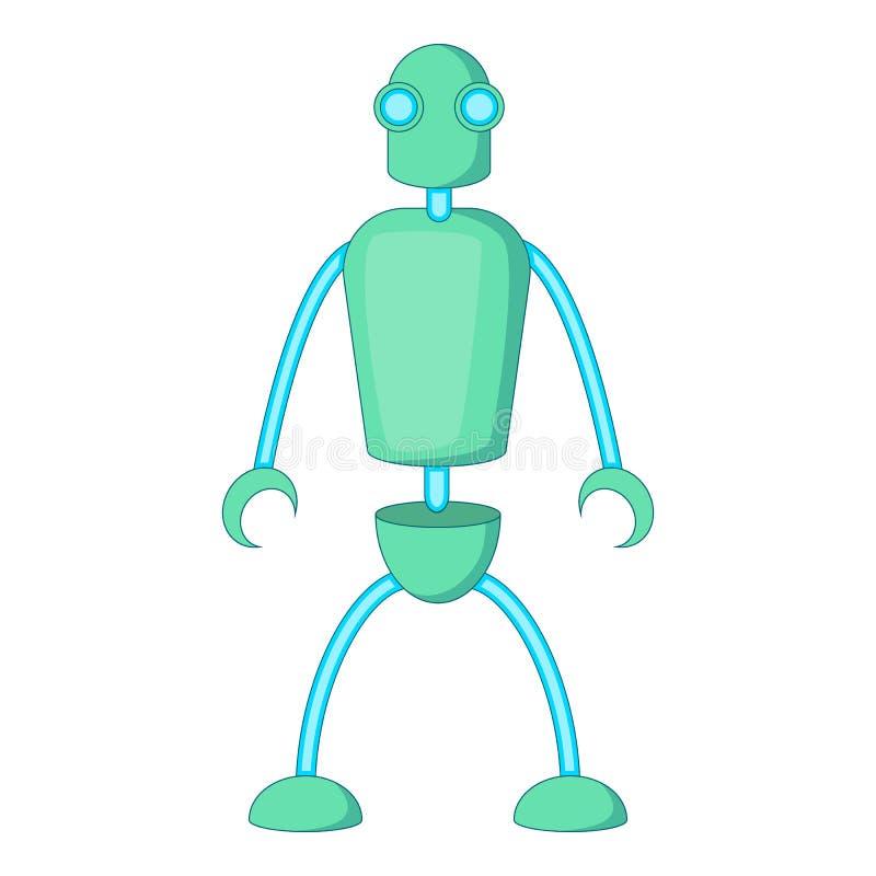 Icono del robot del Humanoid, estilo de la historieta ilustración del vector