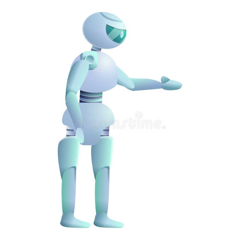 Icono del robot, estilo de la historieta stock de ilustración