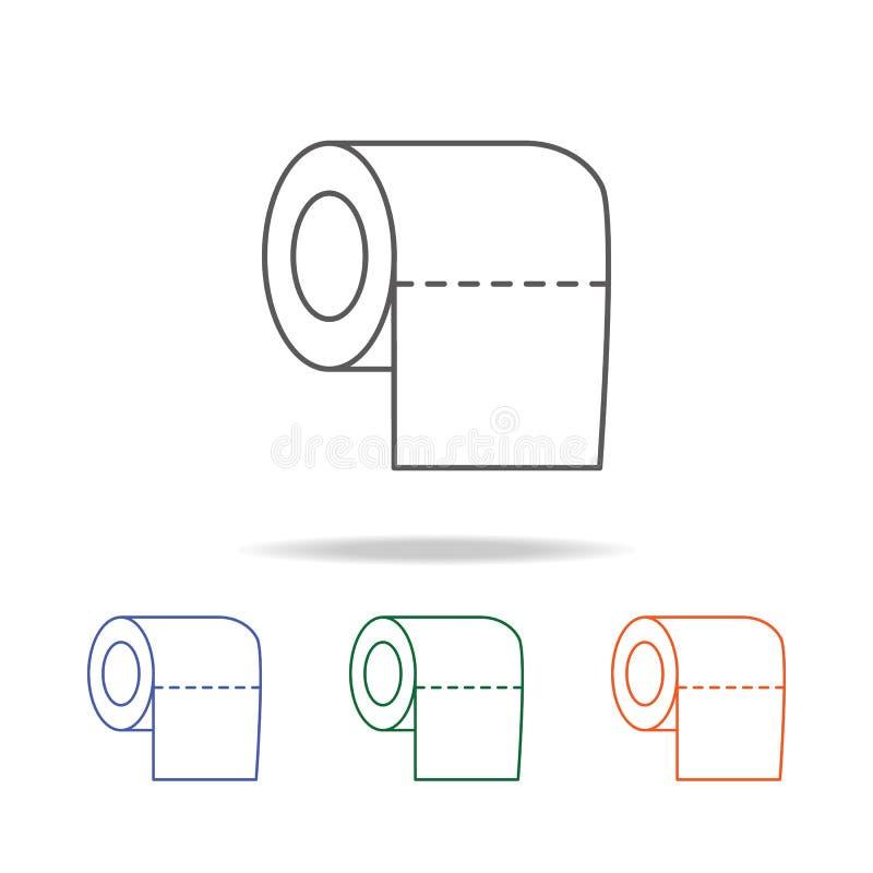 Icono Del Rollo Del Papel De Papel Higiénico Elemento Del Cuarto De