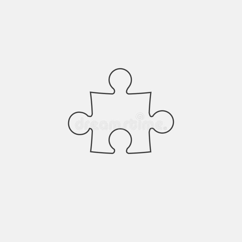 Icono del rompecabezas ilustración del vector