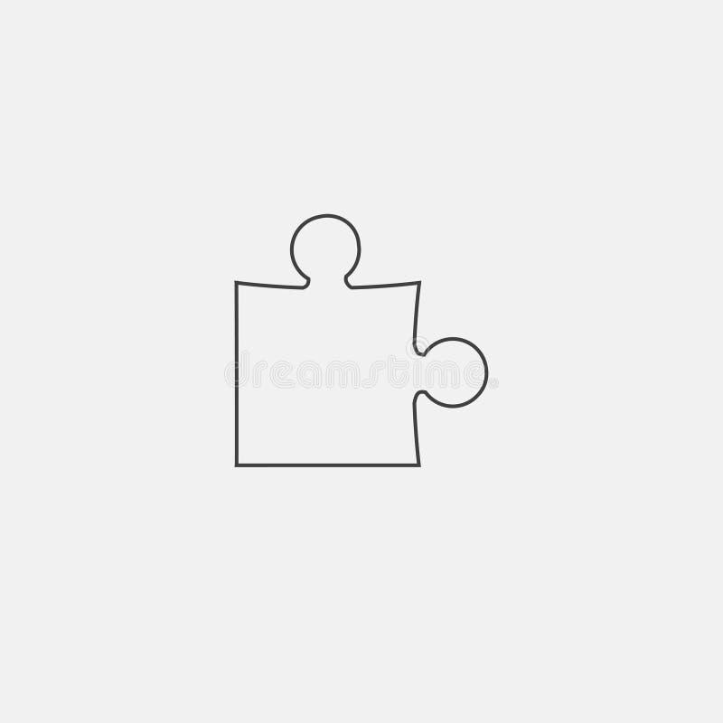 Icono del rompecabezas stock de ilustración