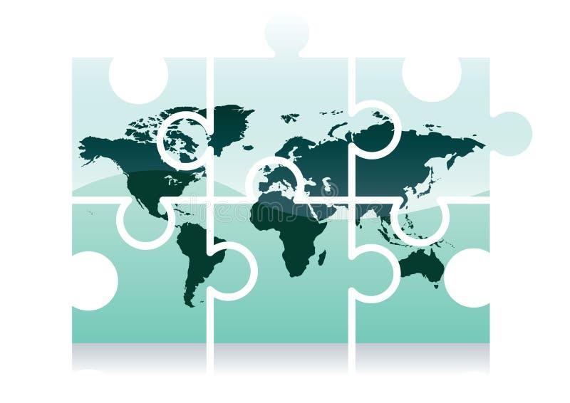 Icono del rompecabezas de la correspondencia de mundo libre illustration