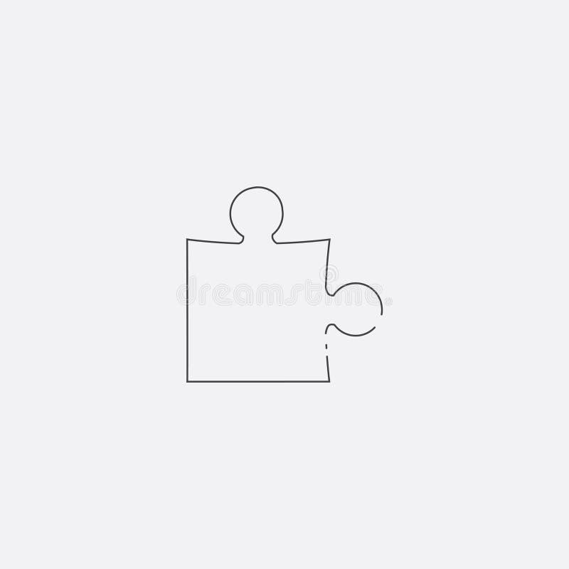 icono del rompecabezas, ejemplo del vector Línea plana icono ilustración del vector