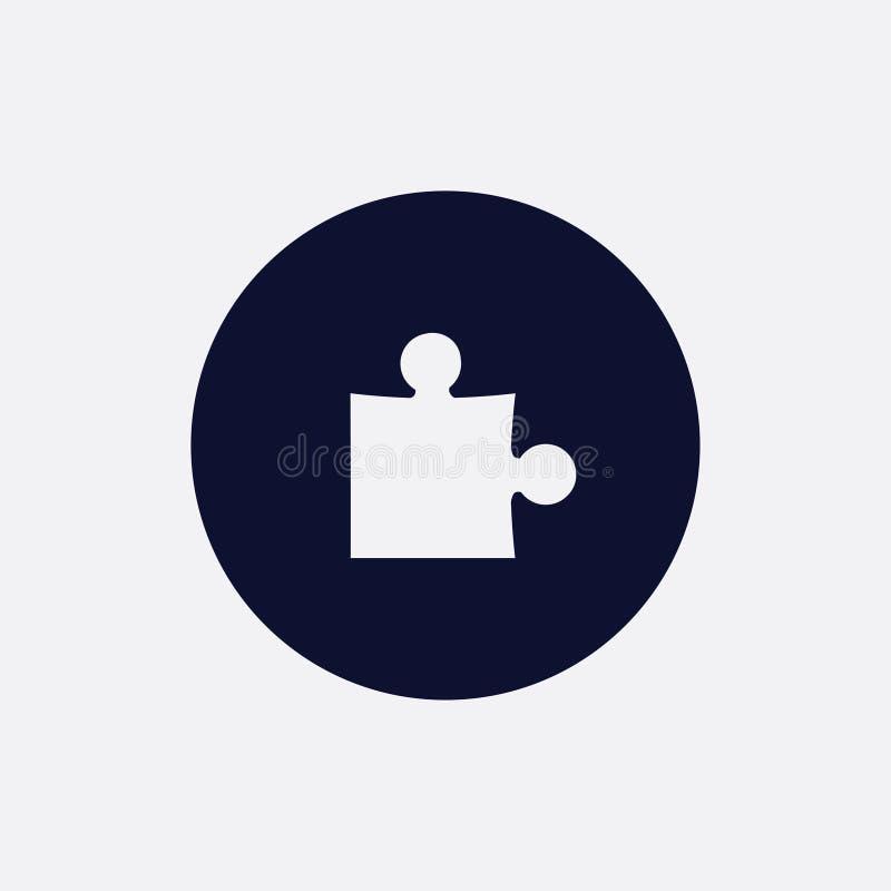 icono del rompecabezas, ejemplo del vector Icono redondo plano ilustración del vector