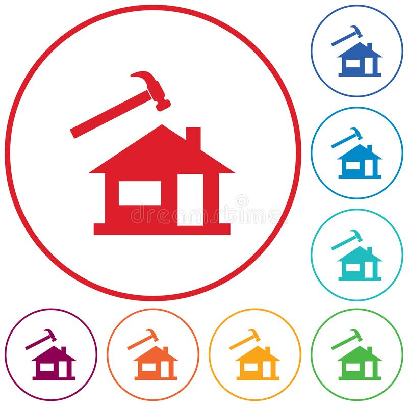 Icono del Roofer/del pizarrero ilustración del vector