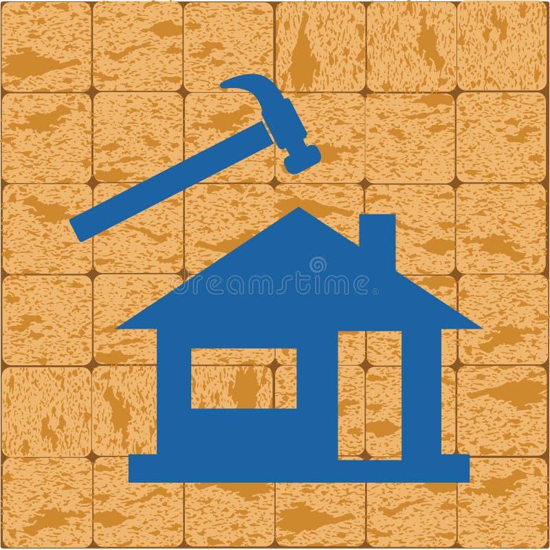 Icono del Roofer/del pizarrero stock de ilustración