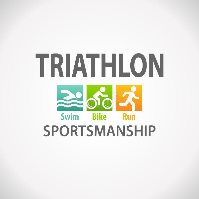 Icono del símbolo de la aptitud del Triathlon libre illustration