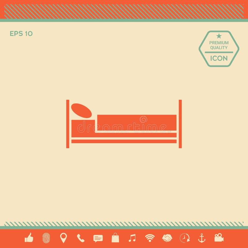 Icono del símbolo de la cama libre illustration