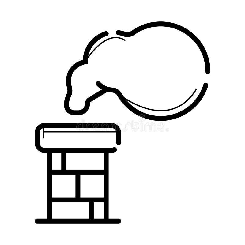 Icono del símbolo de la chimenea stock de ilustración