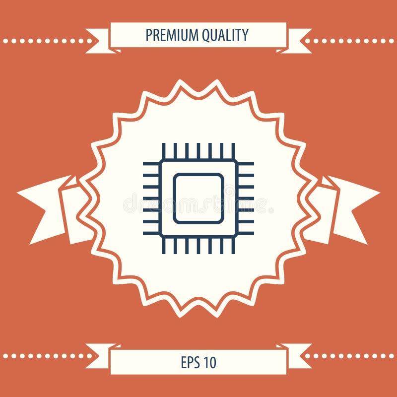 Icono del símbolo de la CPU libre illustration