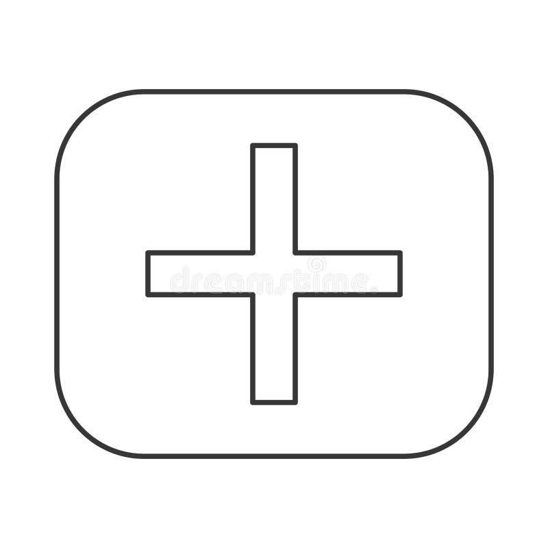 icono del símbolo de la matemáticas de la adición stock de ilustración