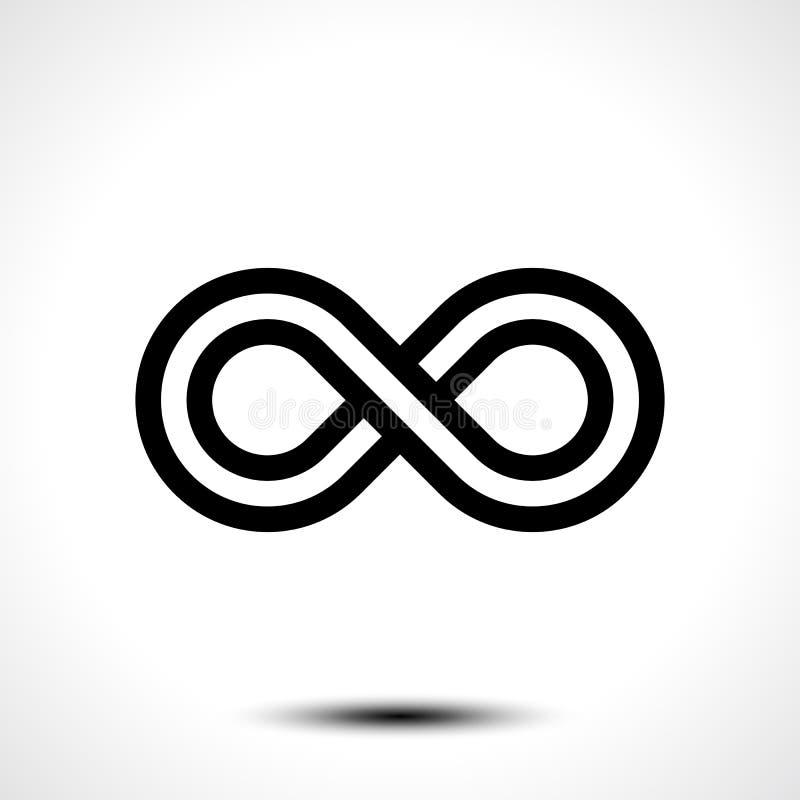 Icono del símbolo del infinito ilustración del vector