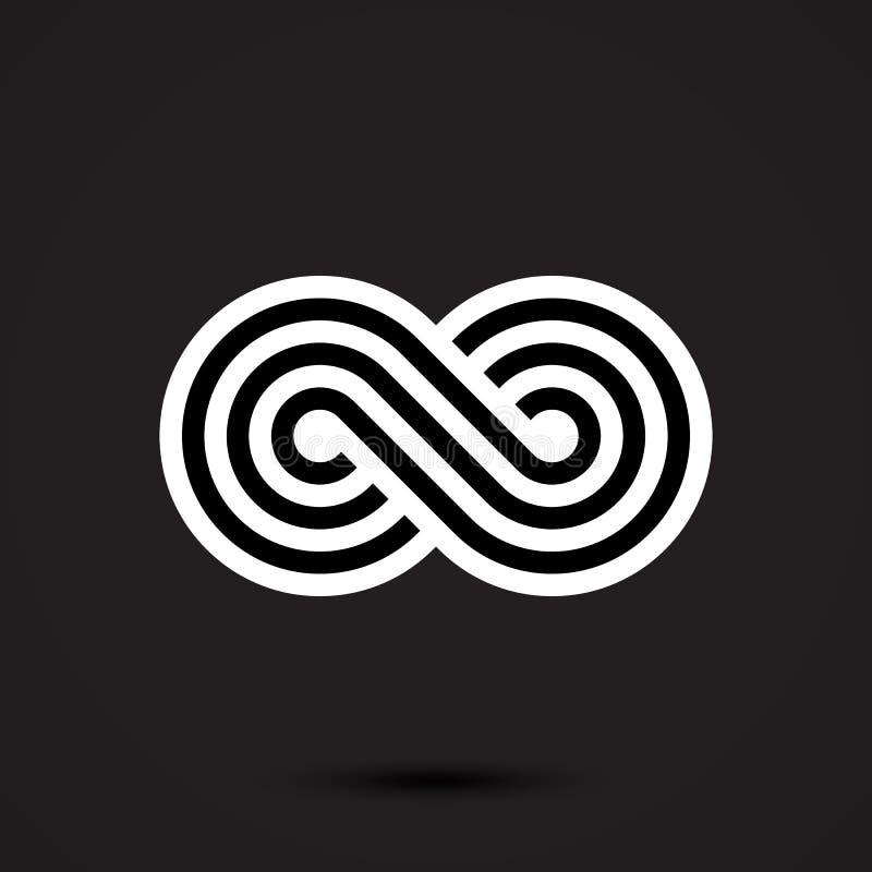 Icono del símbolo del infinito stock de ilustración