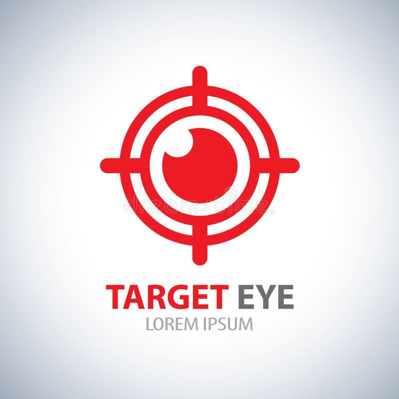 Icono del símbolo del ojo de la blanco ilustración del vector