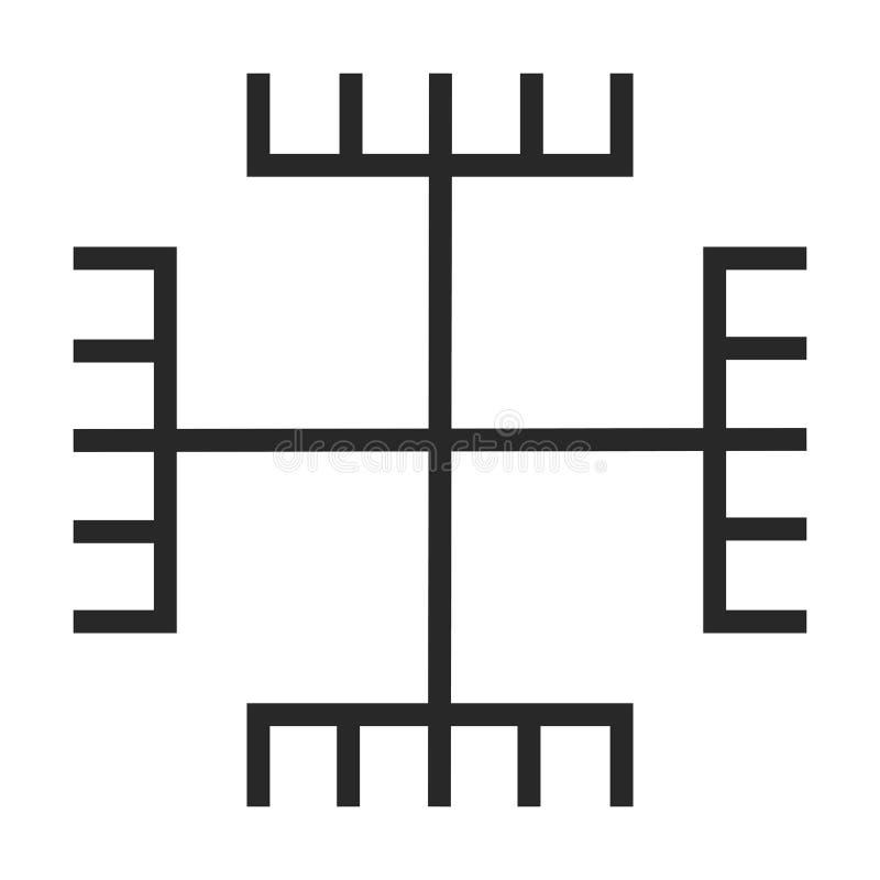 Icono del símbolo del paganismo ilustración del vector