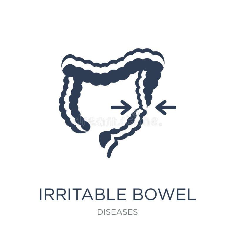 Icono del síndrome de intestino irritable Bowe irritable del vector plano de moda stock de ilustración