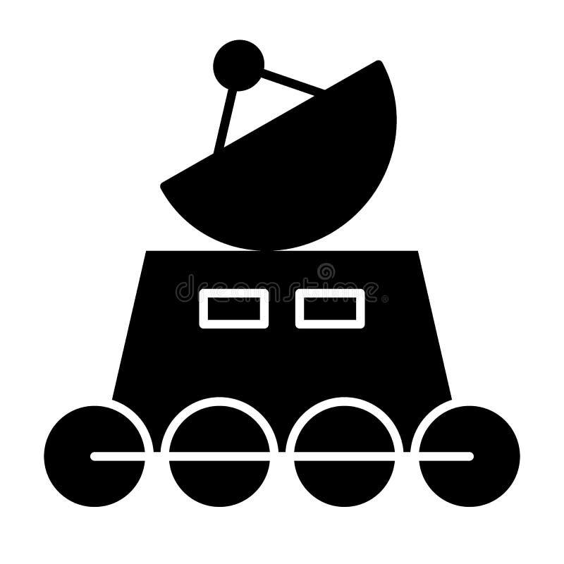 Icono del sólido del vagabundo de la luna Ejemplo lunar del vector del vagabundo aislado en blanco Diseño del estilo del glyph de ilustración del vector