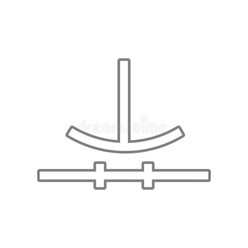 Icono del s?mbolo de circuito electr?nico Elemento de la web para el concepto y el icono m?viles de los apps de la web Esquema, l ilustración del vector