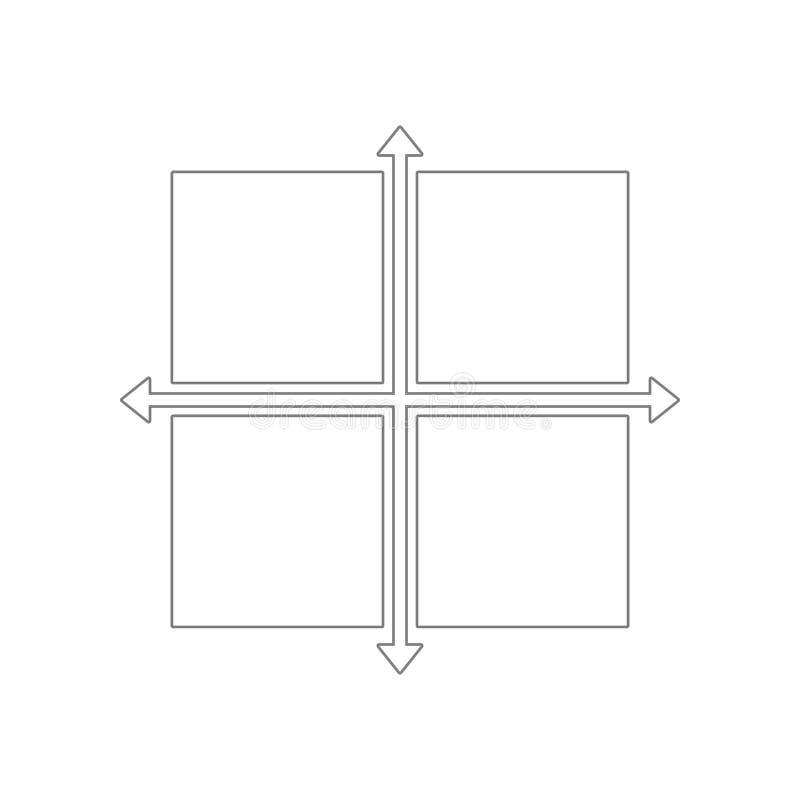 Icono del s?mbolo de las direcciones Elemento de la web para el concepto y el icono m?viles de los apps de la web Esquema, l?nea  libre illustration