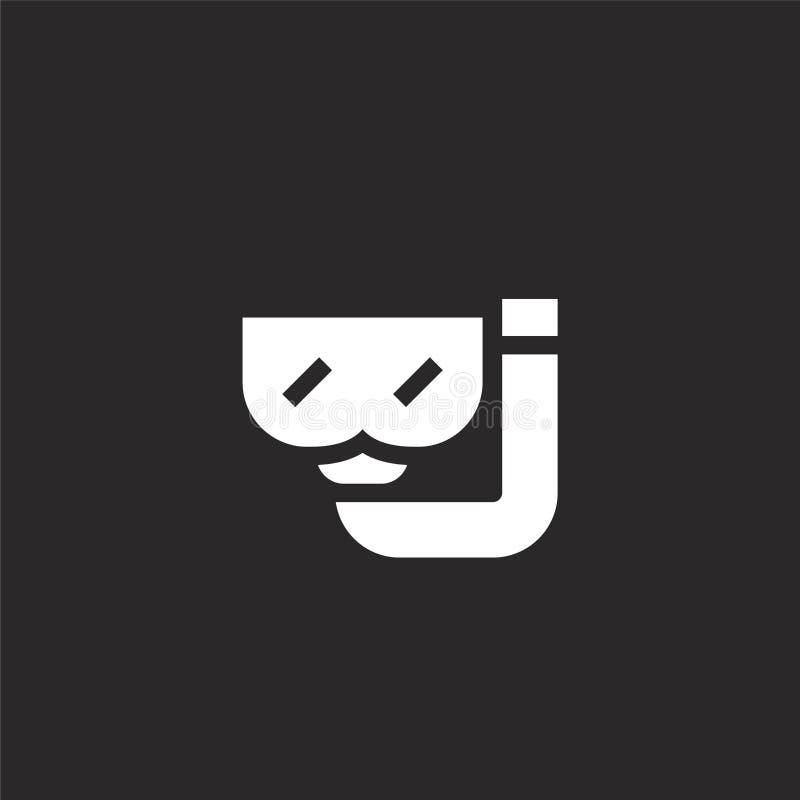 Icono del salto Icono que se zambulle llenado para el diseño y el móvil, desarrollo de la página web del app icono que se zambull stock de ilustración