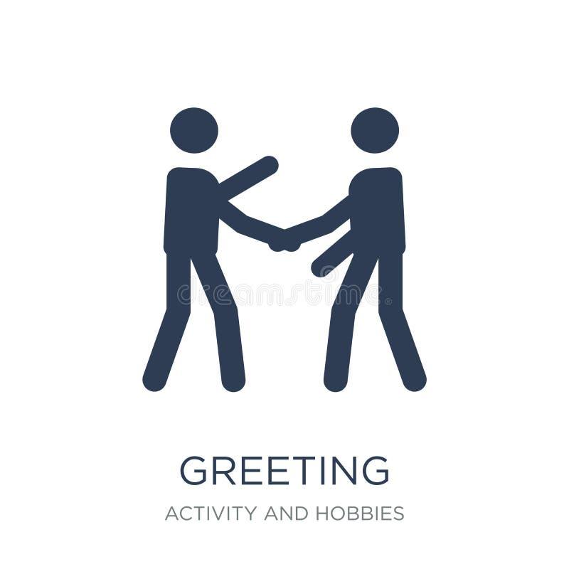Icono del saludo  ilustración del vector