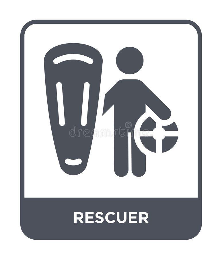 icono del salvador en estilo de moda del diseño icono del salvador aislado en el fondo blanco símbolo plano simple y moderno del  libre illustration