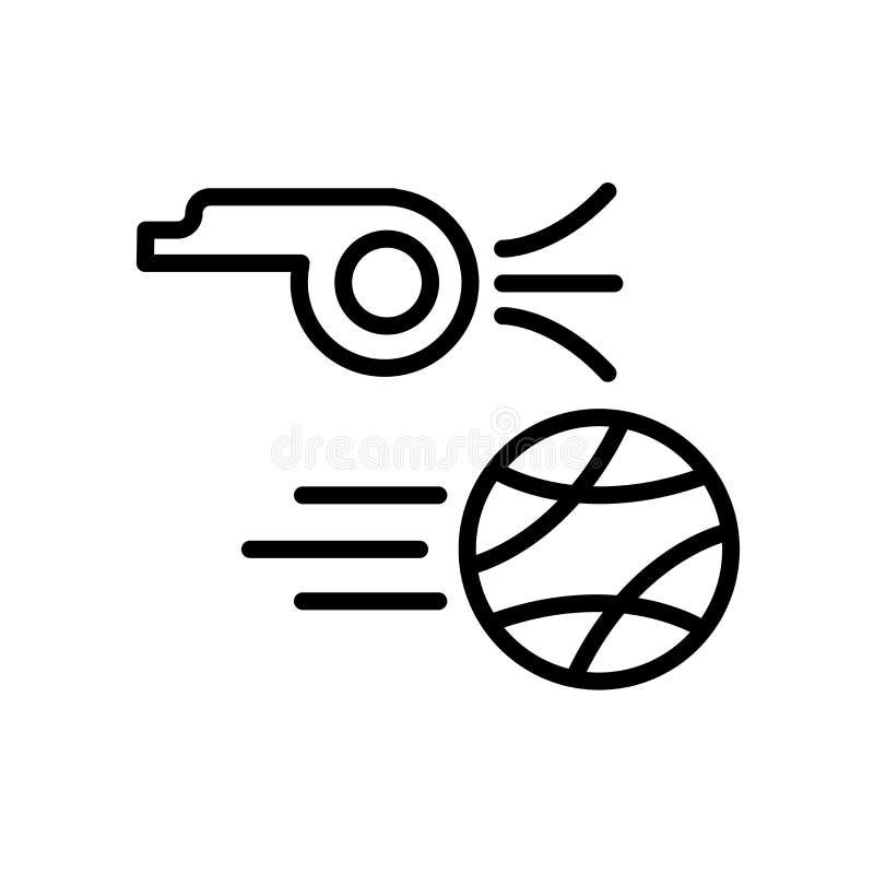 icono del saque de centro aislado en el fondo blanco ilustración del vector