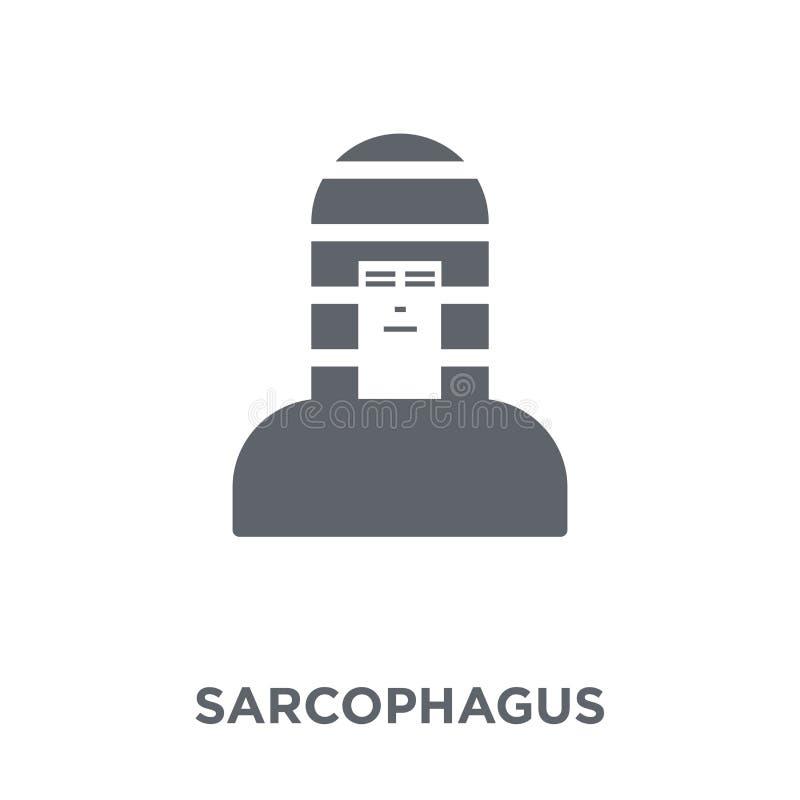 Icono del sarcófago de la colección stock de ilustración