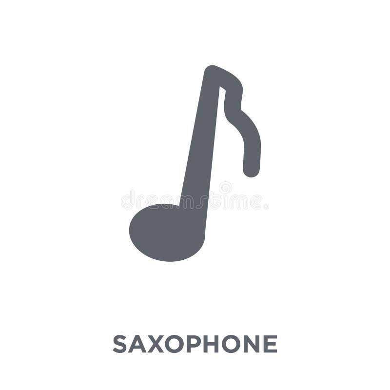 Icono del saxofón de la colección de música ilustración del vector
