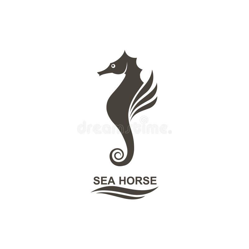 Icono del seahorse ilustración del vector