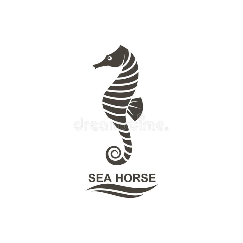 Icono del seahorse stock de ilustración