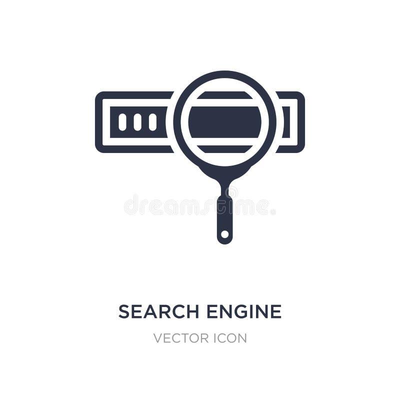 icono del Search Engine en el fondo blanco Ejemplo simple del elemento del concepto de la optimización del Search Engine libre illustration