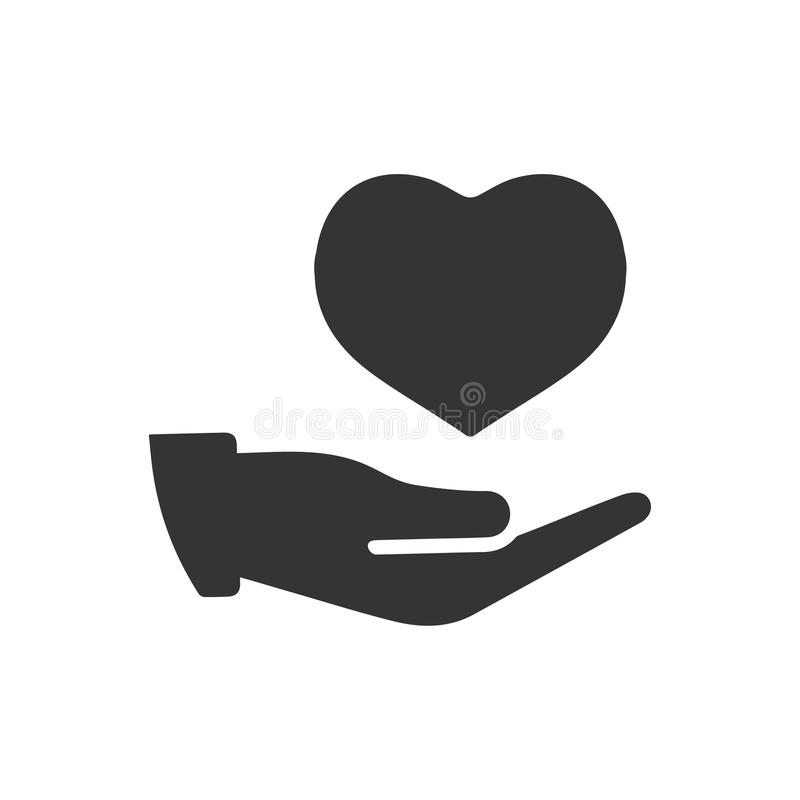 Icono del seguro del corazón ilustración del vector