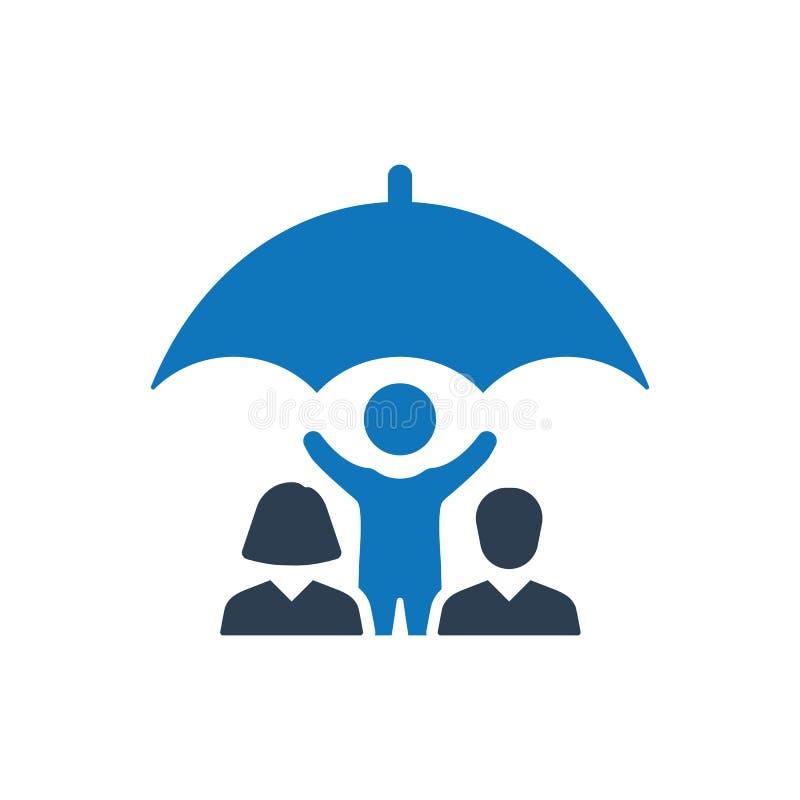 Icono del seguro de la vida familiar libre illustration