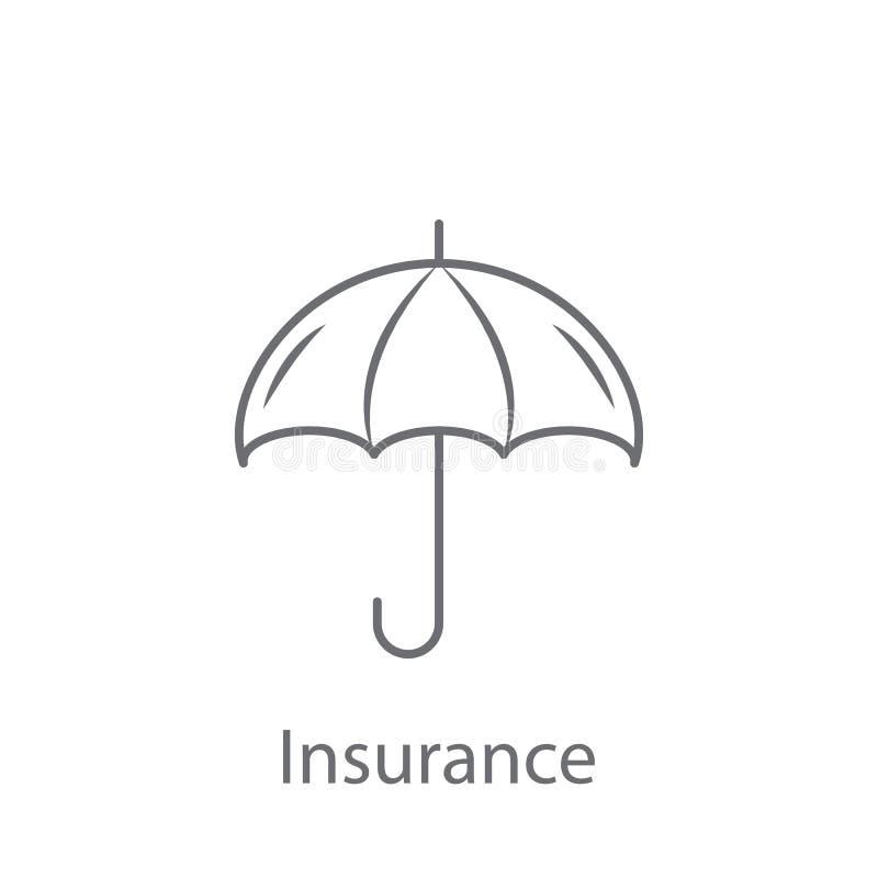 Icono del seguro del paraguas Ejemplo simple del elemento Diseño del símbolo del seguro del paraguas del sistema de la colección  stock de ilustración