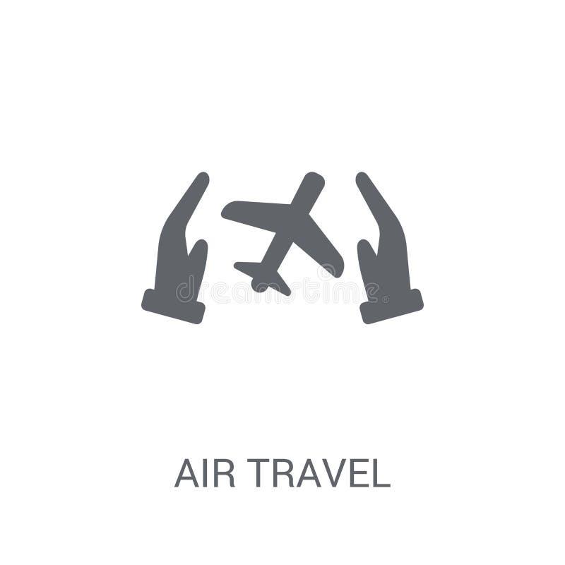 Icono del seguro del transporte aéreo Logotipo de moda del seguro del transporte aéreo concentrado ilustración del vector