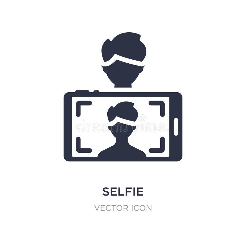 icono del selfie en el fondo blanco Ejemplo simple del elemento del concepto del Blogger y del influencer ilustración del vector