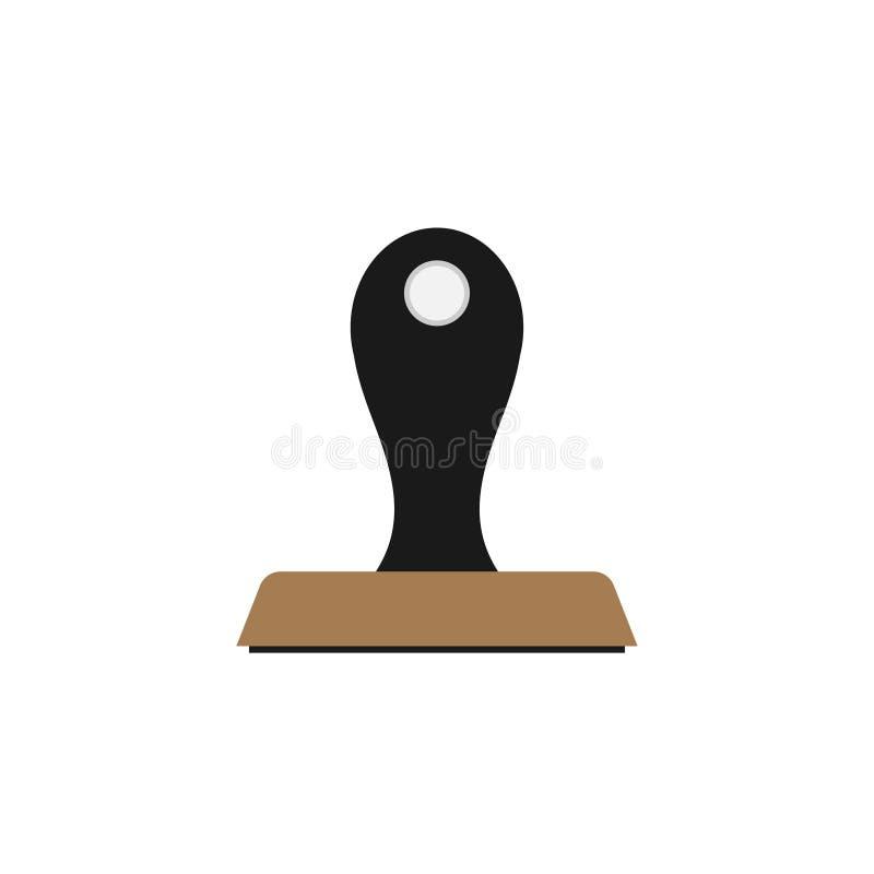 Icono del sello de goma ilustración del vector