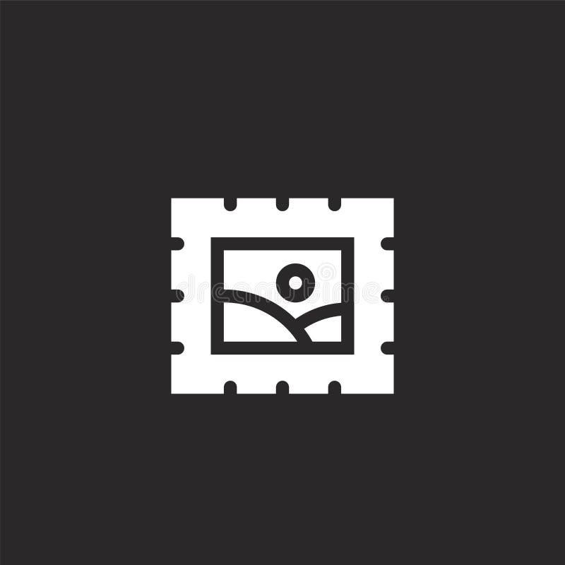 Icono del sello Icono llenado del sello para el diseño y el móvil, desarrollo de la página web del app icono del sello de la cole stock de ilustración
